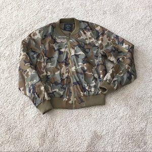 Love Tree camo bomber jacket w/extra sleeve pocket